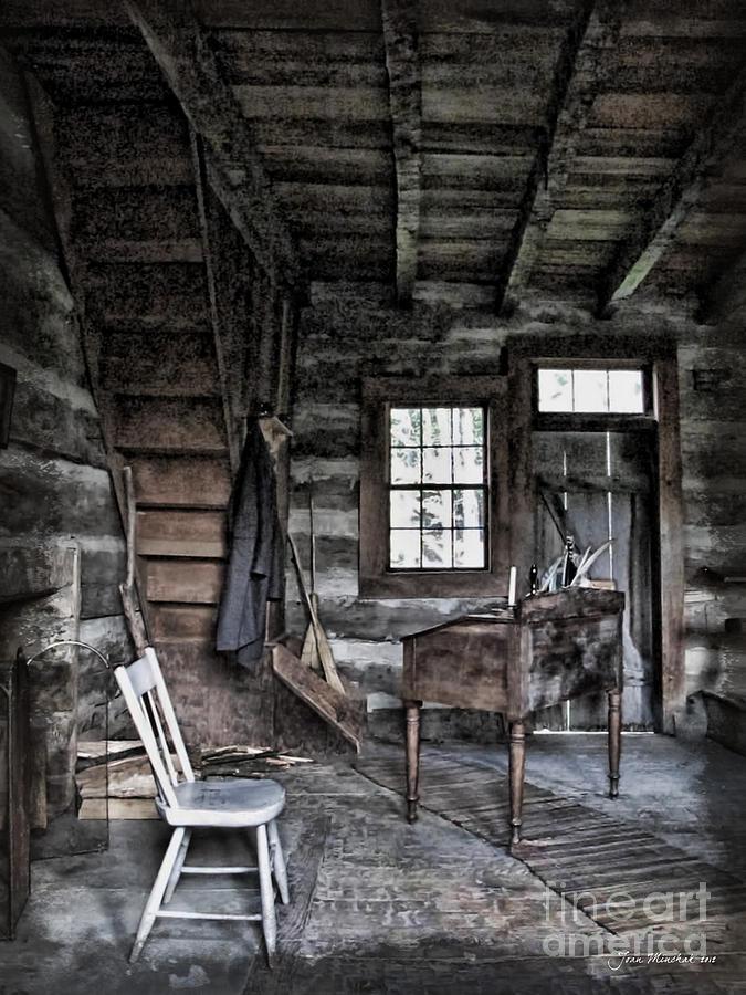 Log Cabin Photograph - Ohio Cabin by Joan  Minchak