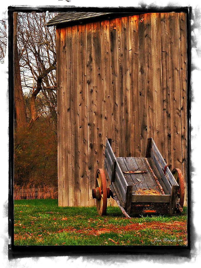 Ohio Wheelbarrel In Autumn Photograph