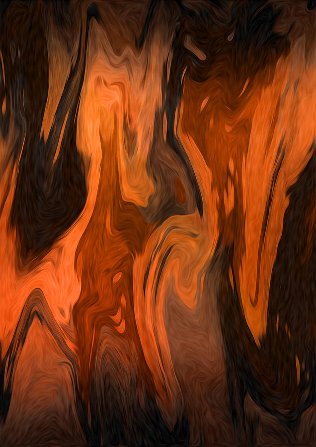Oil Abstract Digital Art  - Oil Abstract Fine Art Print