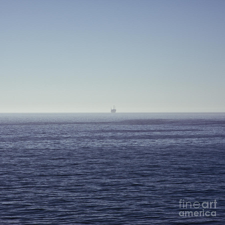Oil Rig On Ocean Photograph