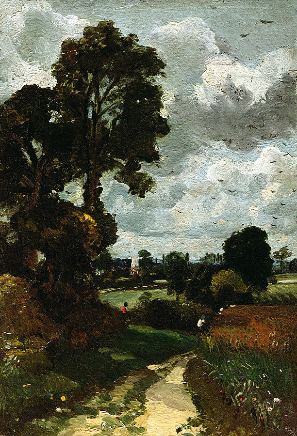 Oil Sketch Of Stoke-by-nayland Painting