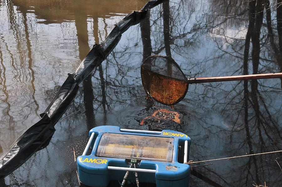 Oil Spill Cleanup, Russia Photograph