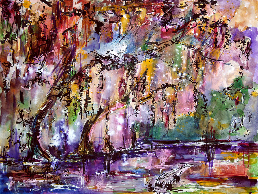 Okefenokee Mystic Magic Painting  - Okefenokee Mystic Magic Fine Art Print
