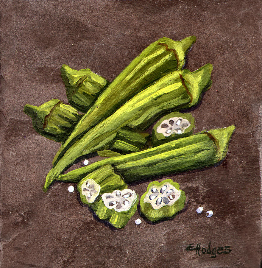 Okra Painting  - Okra Fine Art Print