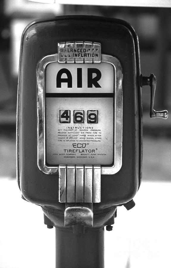 Old Air Pump Photograph  - Old Air Pump Fine Art Print
