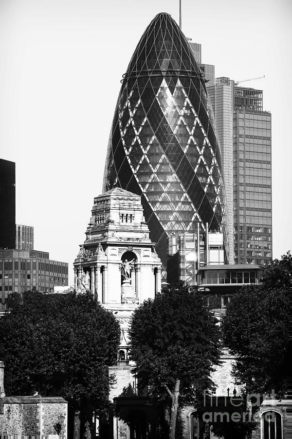 Old And New In London Photograph