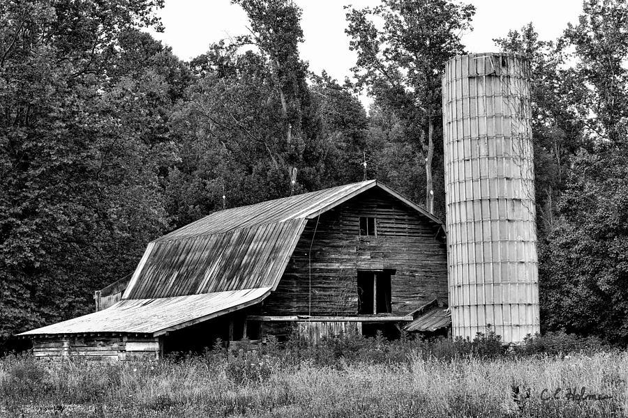 Old Barn - Bw Photograph