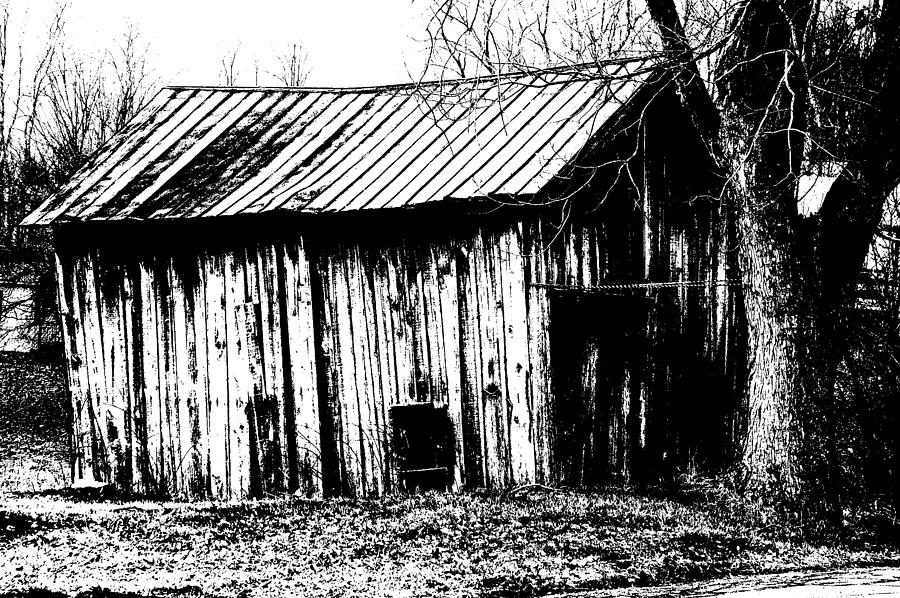 Barn Photograph - Old Barn In Black And White by Ronald T Williams