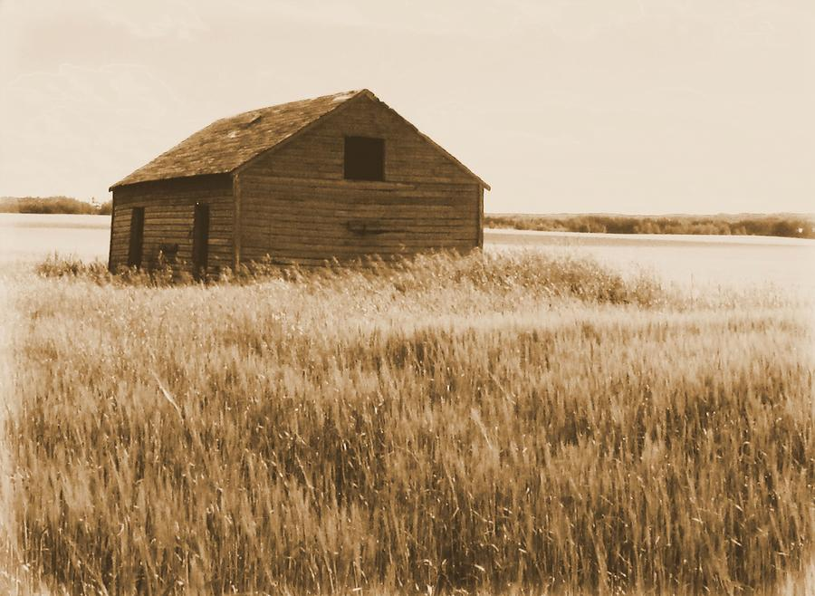 Old Barn On The Prairie  Photograph