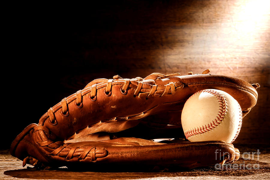 Old Baseball Glove Photograph  - Old Baseball Glove Fine Art Print