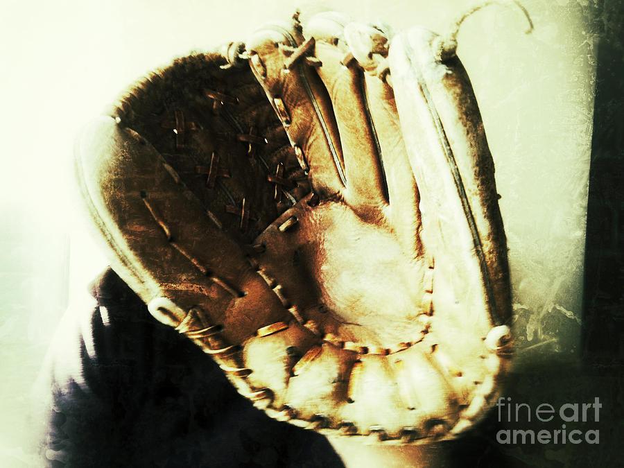 Old Baseball Glove Photograph