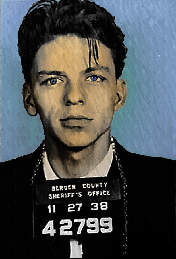 Old Blue Eyes - Frank Sinatra Digital Art  - Old Blue Eyes - Frank Sinatra Fine Art Print
