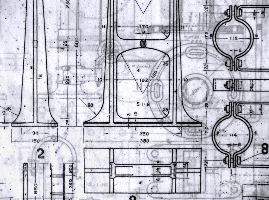 Old Blueprints Photograph  - Old Blueprints Fine Art Print