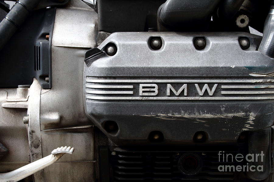 Old Bmw Motorcycle Engine . 7d13654 Photograph