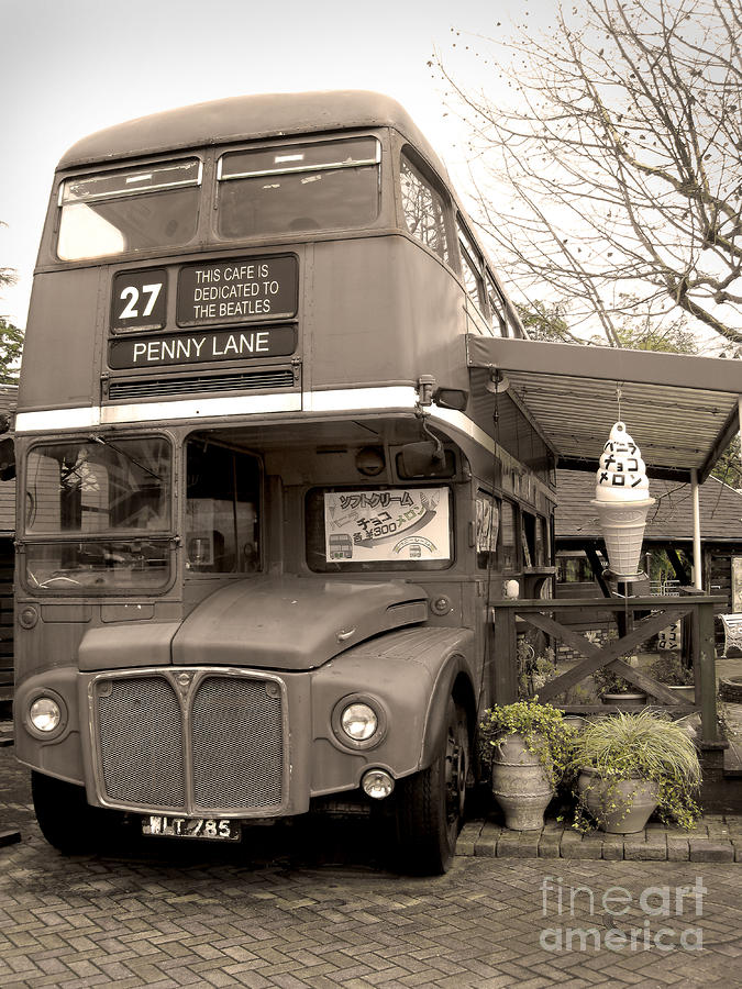Old Bus Cafe Photograph