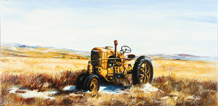 Old Case Tractor Painting  - Old Case Tractor Fine Art Print