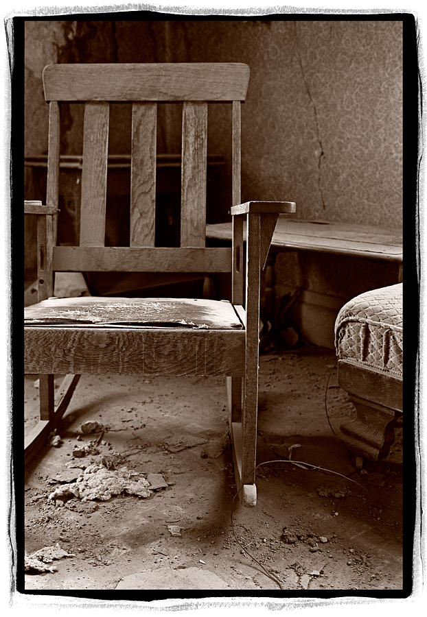 Abandoned Photograph - Old Chair Bodie California by Steve Gadomski