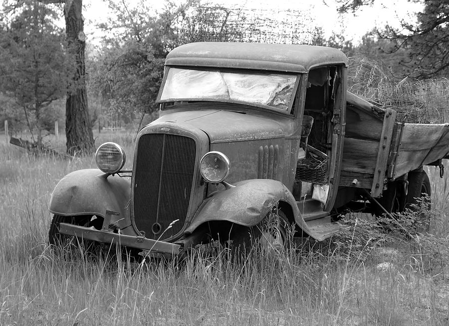 Old Chevy Truck Photograph  - Old Chevy Truck Fine Art Print