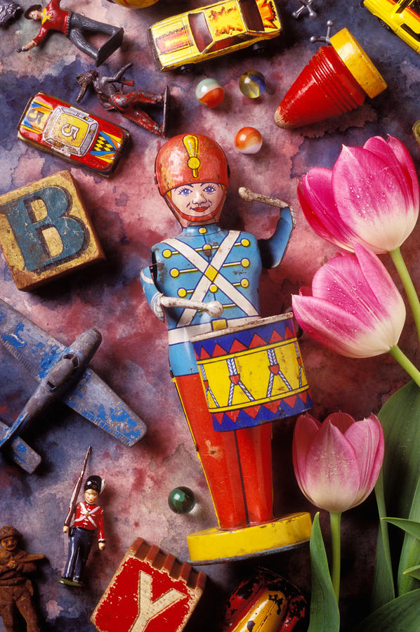 Toy Photograph - Old Childrens Toys by Garry Gay