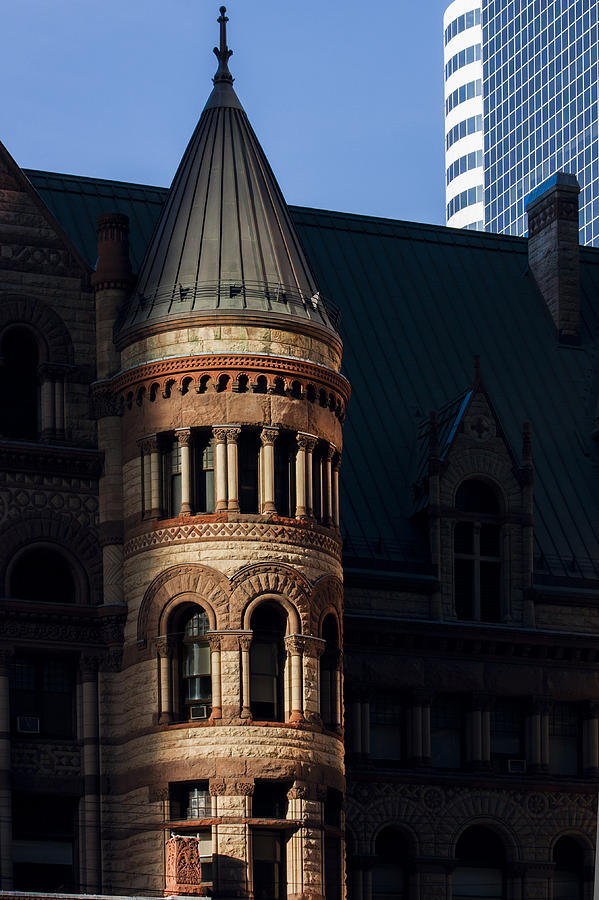 Architecture Photograph - Old City Hall Turret by Matt  Trimble