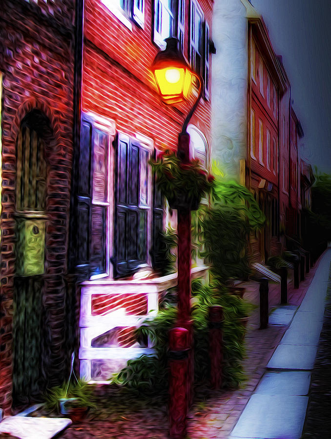 Old City Streets - Elfreths Alley Photograph  - Old City Streets - Elfreths Alley Fine Art Print