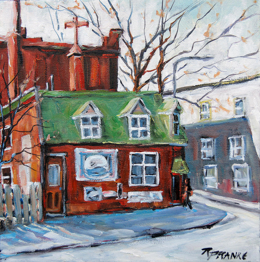 Old Corner Store Montreal By Prankearts Painting