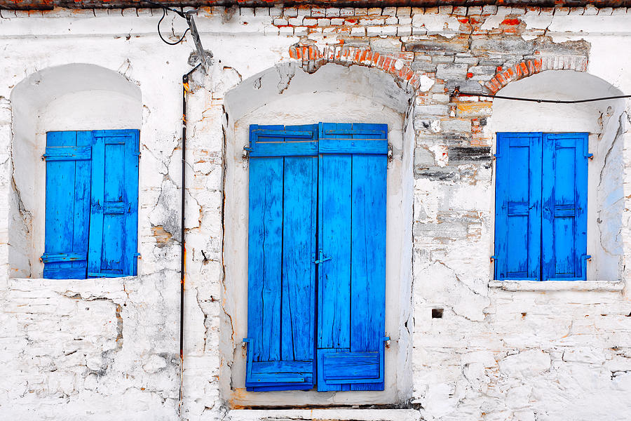 Old Door And Windows  Photograph