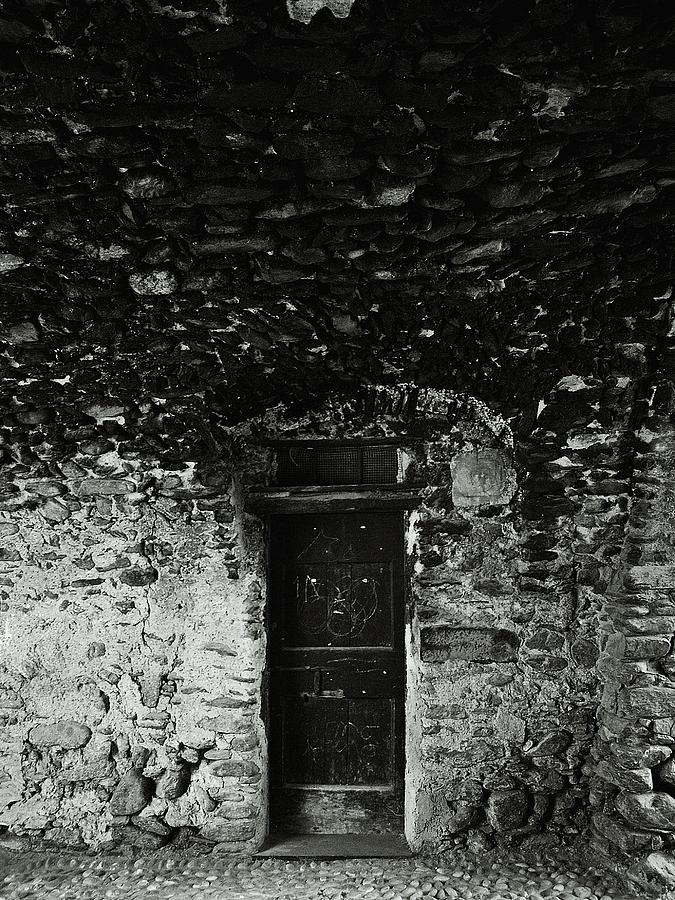 Old Door Under The Porch Photograph