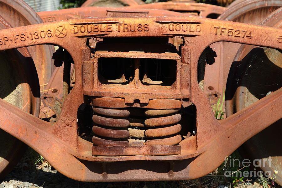 Old Double Truss Train Wheel . 7d12855 Photograph