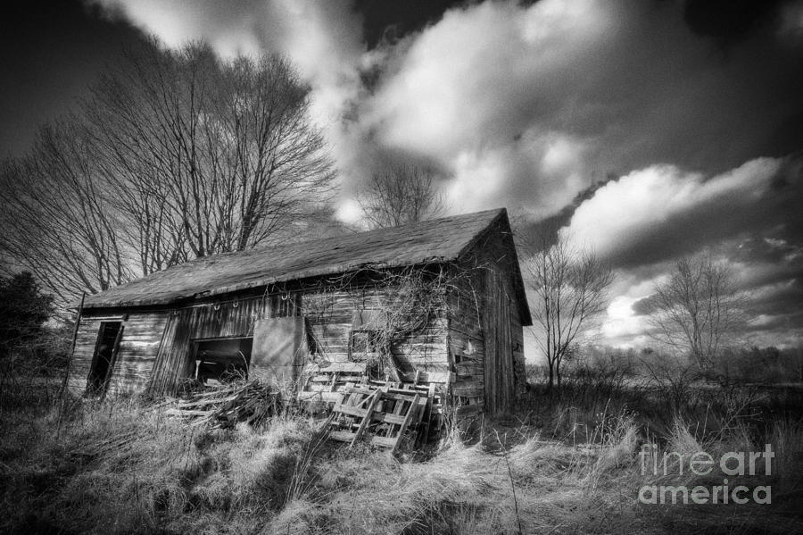 Old Dramatic Barn Hdr Photograph  - Old Dramatic Barn Hdr Fine Art Print