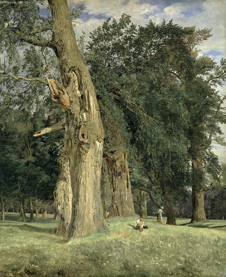 Old Elms In Prater Painting