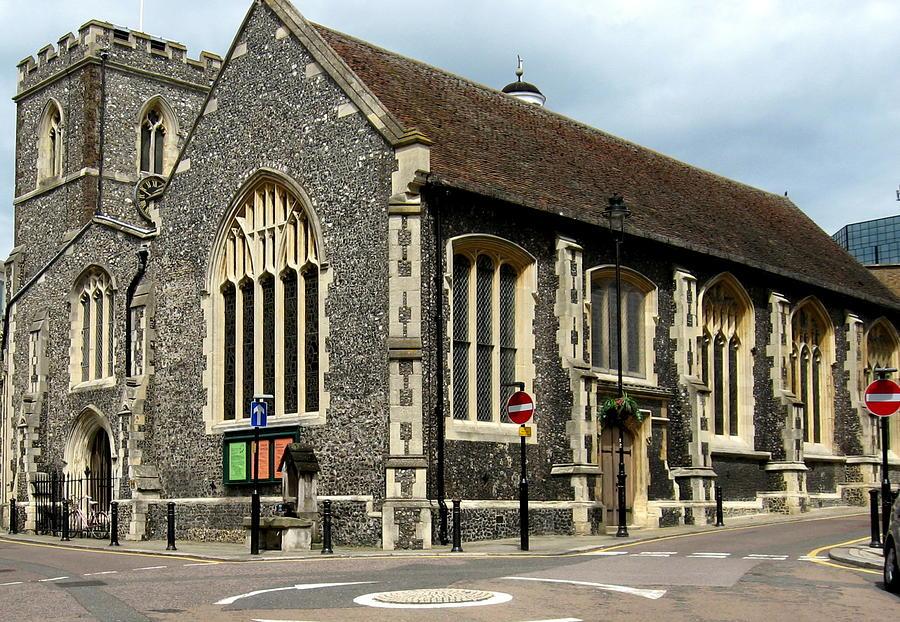 Old English Church Uxbridge Uk Photograph