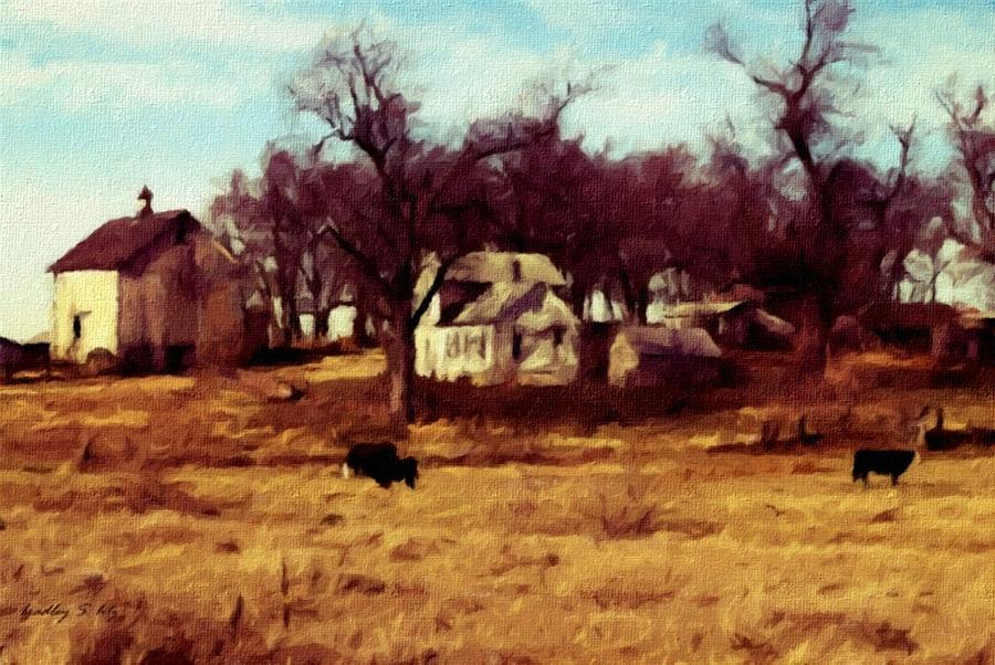 Old Farm Painting  - Old Farm Fine Art Print