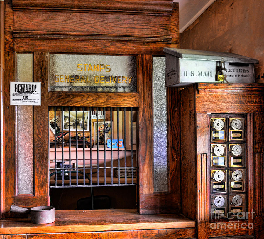 Old Fashion Post Office Photograph  - Old Fashion Post Office Fine Art Print
