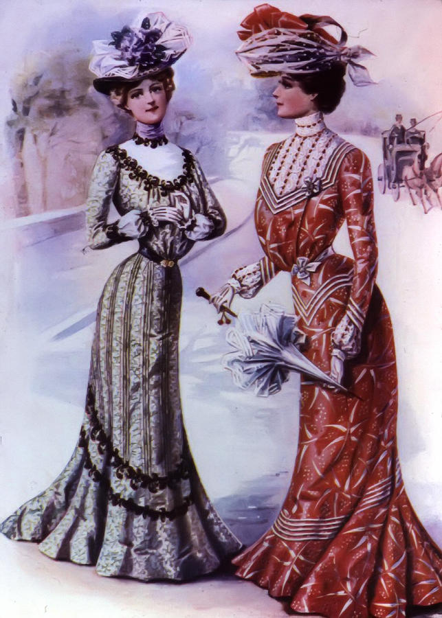 Old Fashioned Fashion Drawing By Bill Cannon