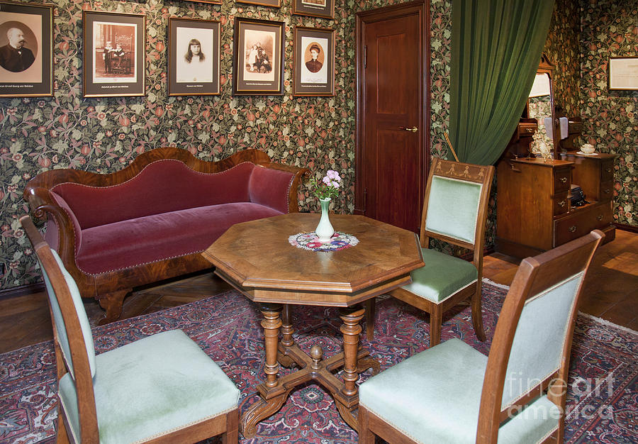 Old fashioned furniture at the alatskivi castle photograph for Old fashioned couch