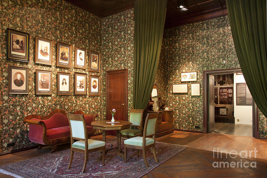 Old fashioned room at the alatskivi castle print by jaak for Old fashioned living room designs