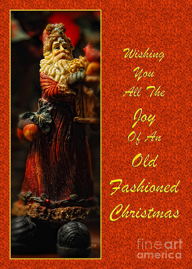 Old Fashioned Santa Christmas Card Photograph