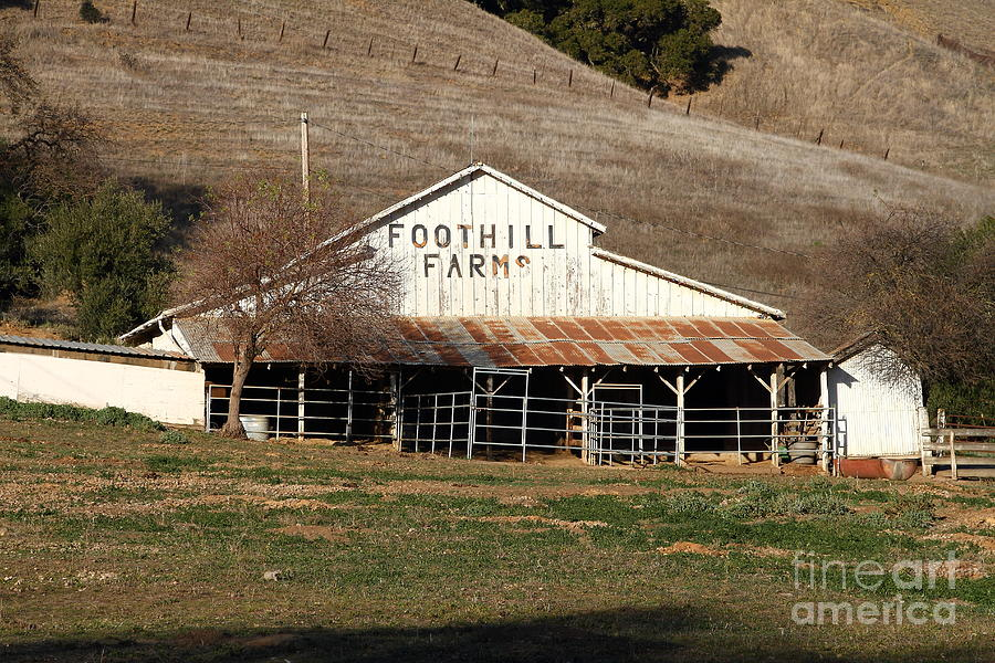 Old Foothill Farms In Small Town Of Sunol California . 7d10796 Photograph  - Old Foothill Farms In Small Town Of Sunol California . 7d10796 Fine Art Print
