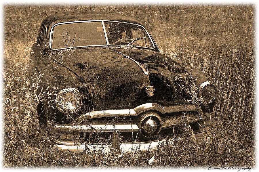 Old Photograph Old Ford Car 2 By Susan Cliett & 1937 ford 4 door sedan slant back. 1957 ford fairlane maintenance ... markmcfarlin.com