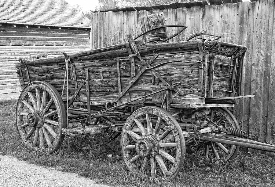 Old Freight Wagon - Montana Territory Photograph