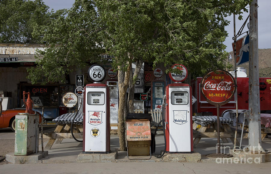 Old Gas Pumps, 2009 Photograph