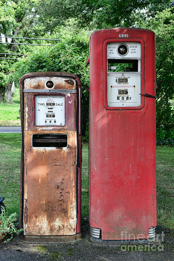 Old Gas Station Pumps PhotographOld Gas Station Pump