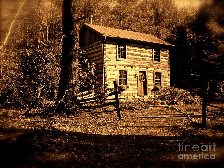 Old German Style Log Cabin By E Robert Dee