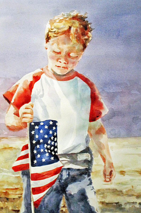 Old Glory Forever Young Painting  - Old Glory Forever Young Fine Art Print