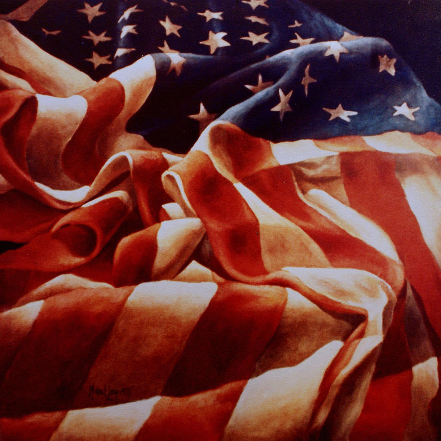 Old Glory Painting  - Old Glory Fine Art Print