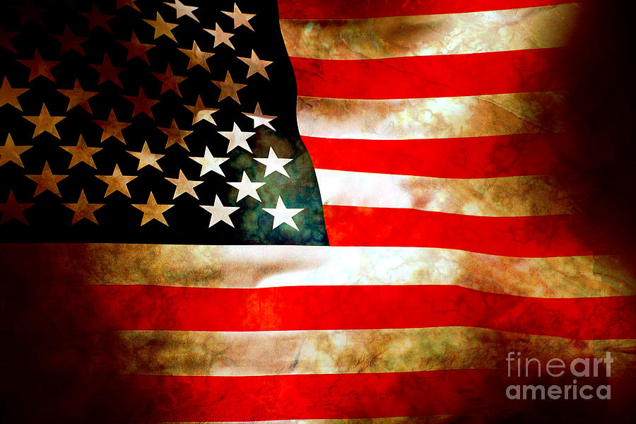 Old Glory Patriot Flag Photograph  - Old Glory Patriot Flag Fine Art Print