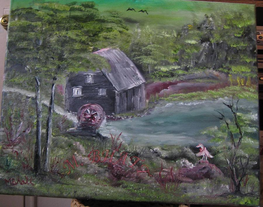 Old Grist Mill Painting  - Old Grist Mill Fine Art Print