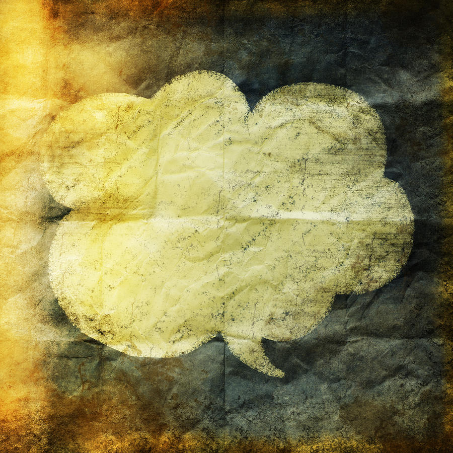 Old Grunge Paper With Speed Balloon Digital Art