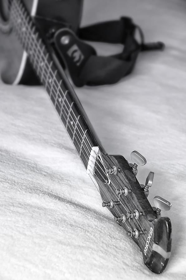 Old Guitar Photograph  - Old Guitar Fine Art Print